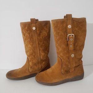 Coach Tulip Signature Suede Winter Boots Size 7